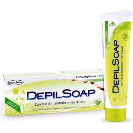DEPILSOAP - crema depilatoria  corpo con fior di mandorlo e olio d' oliva per  pelli normali 150 ml