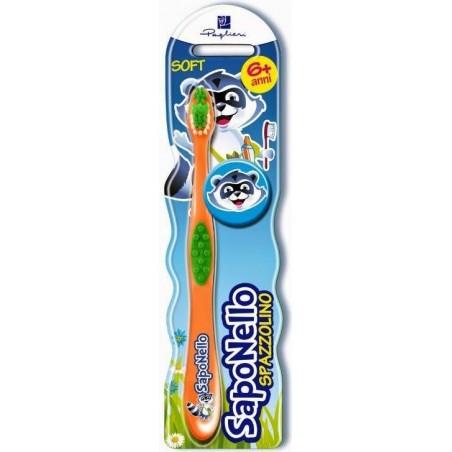 SAPONELLO - spazzolino per bambini soft 6 anni +
