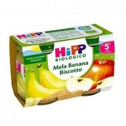 Merenda biologica mela banana biscotto 2 vasettida 125g