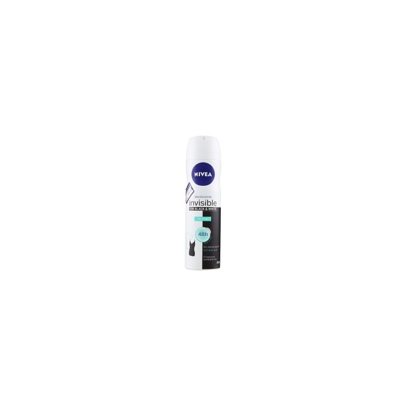 NIVEA - Invisible for Black & White Active - Deodorante Spray 150 ml