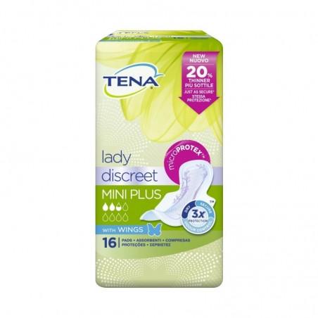 TENA - Lady Discreet Mini Plus con Ali - 16 Assorbenti