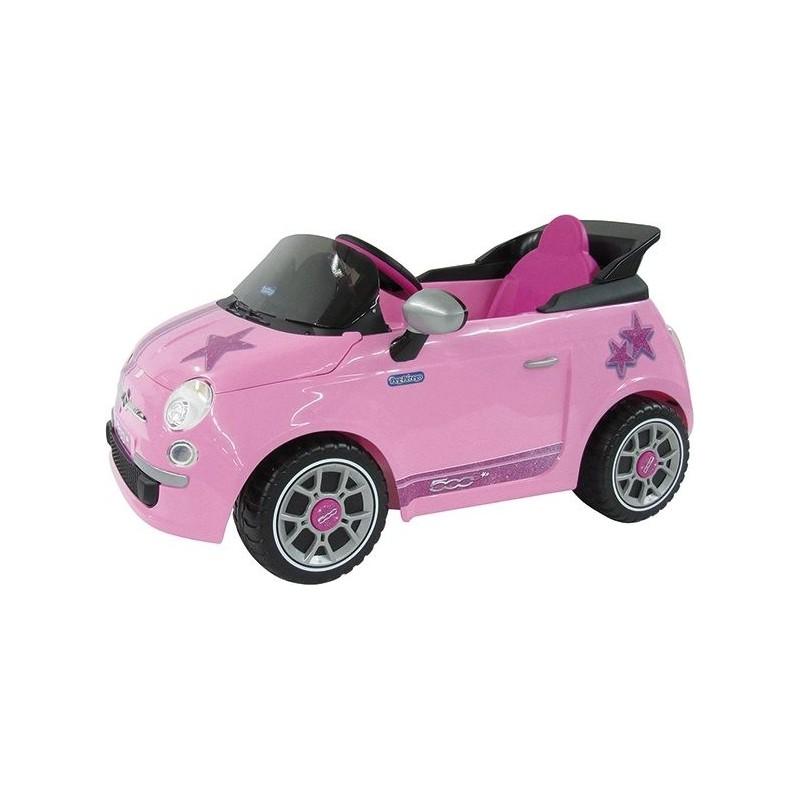 PEG PEREGO - Fiat 500 star 6Volt - Automobile per bambine radiocomando rosa