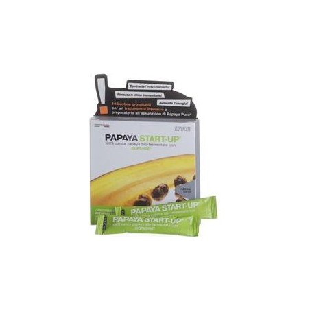 ZUCCARI - Papaya Start Up 10 Bustine Da 5 G - Integratore Alimentare Energizzante Antiossidante
