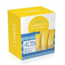 Cofanetto Summer in Clinique SPF 15 Viso/Corpo + SPF 40 Viso + Doposole