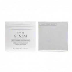 sensai cream foundation spf 15 - fondotinta anti-età cf 25 topaz beige