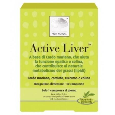 NEW NORDIC - Active Liver Integratore Alimentare per la Funzione Epatica 60 compresse