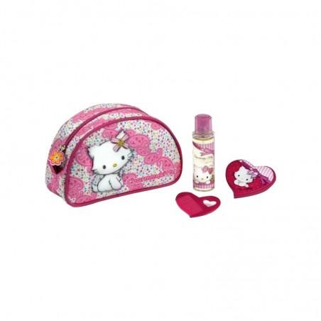 HELLO KITTY - confezione regalo per bambine set trousse - eau de toilette 50ml + specchietto e pettine