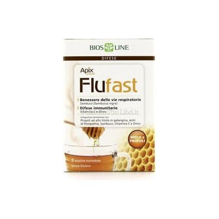 BIOS LINE - apix propoli flufast propoli e miele 9 bustine - integratore alimentare per le difese immunitarie