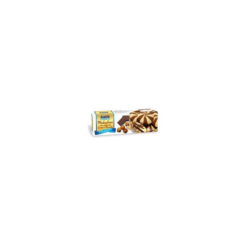 GIULIANI - Biscotti Al Cacao Senza Zucchero Medaglioni Cacao Giusto Senza Zucchero 175 G