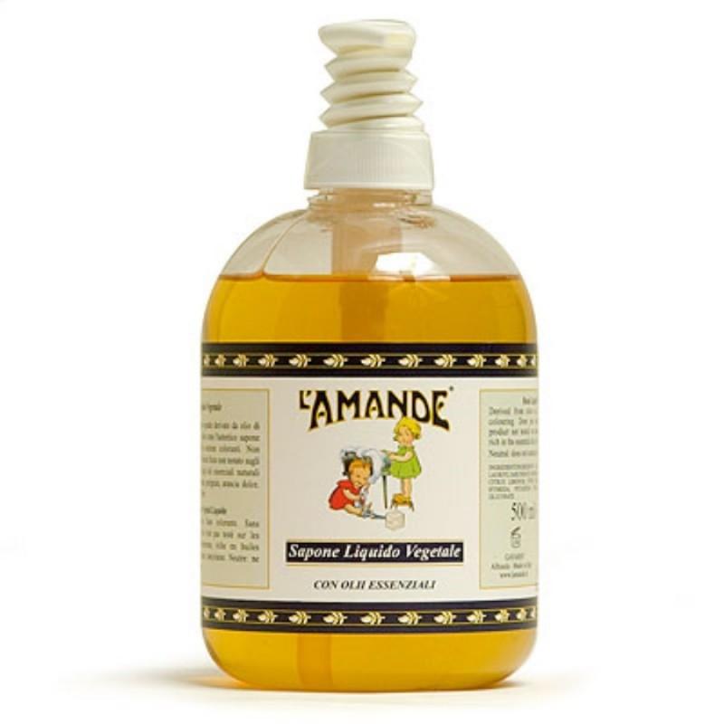 L'AMANDE - sapone liquido vegetale con oli essenziali 500 ml