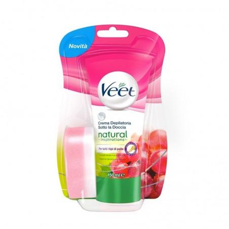 VEET - natural inspirations crema depilatoria sotto la doccia con olio di semi d'uva 150 ml