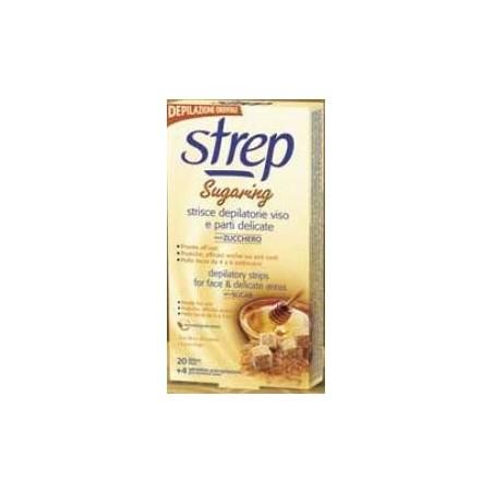 STREP - sugaring strisce depilatorie viso allo zucchero 20 strisce