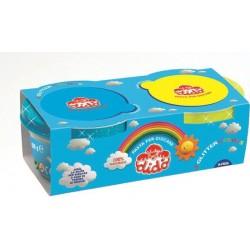 confezione 2 barattoli bis glitter  colori  giallo azzurro 2 x 100 g