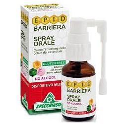 epid barriera spray orale per l' irritazione della gola senza alcool e glutine 15 ml