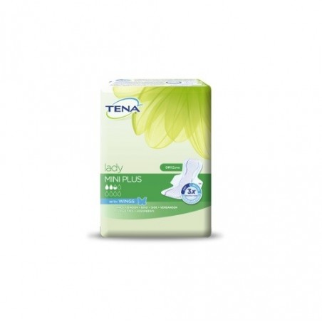 TENA - lady mini plus wings - 16 assorbenti per perdite urinarie