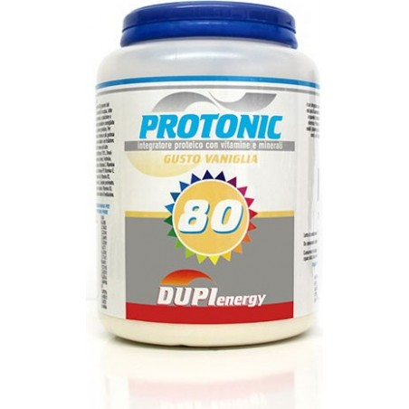 DUPI ITALIA - protonic 80 750 g gusto vaniglia - integratore alimentare energetico
