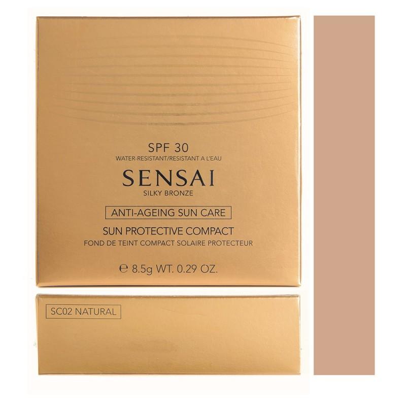 KANEBO - sensai silky bronze sun protective compact- fondotinta solare anti-età spf30 - natural 02