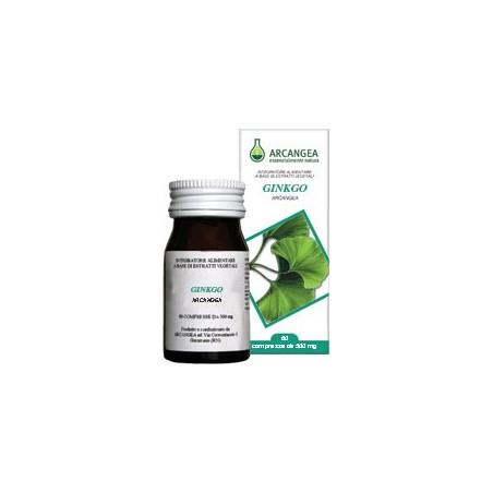 ARCANGEA - Ginko Biloba 60 Capsule 500 Mg - Integratore Per l'Apparato Circolatorio