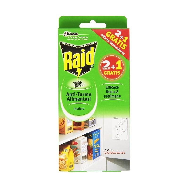 RAID - tarme alimentari foglietti adesivi inodore 1 confezione 2 pezzi
