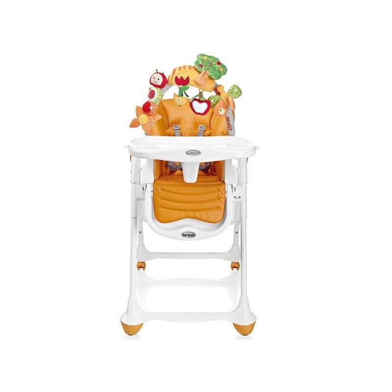 seggiolone pappa b fun color arancio