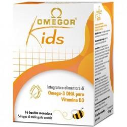 Integratore Alimentare Per Bambini  Tonico Psico Fisico Omegor Kids 16 Bustine