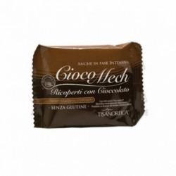 tisanoreica cioco-mech biscotto al cacao ricoperto con cioccolato fondente 1 confezione con 9 biscotti da 13 g
