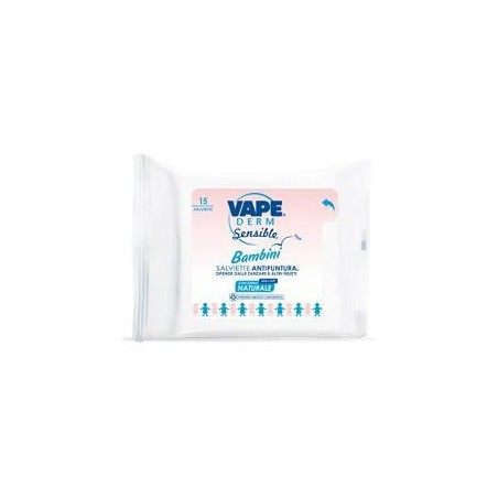 VAPE - Vapederm Sensible Salviette Anti Puntura Kids&Family 15 Pezzi
