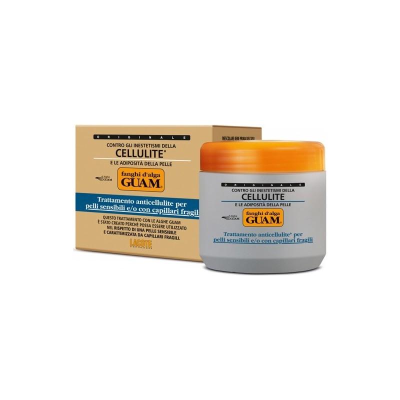 GUAM - fanghi d'alga trattamento anticellulite pelli sensibili con capillari fragili 500 g