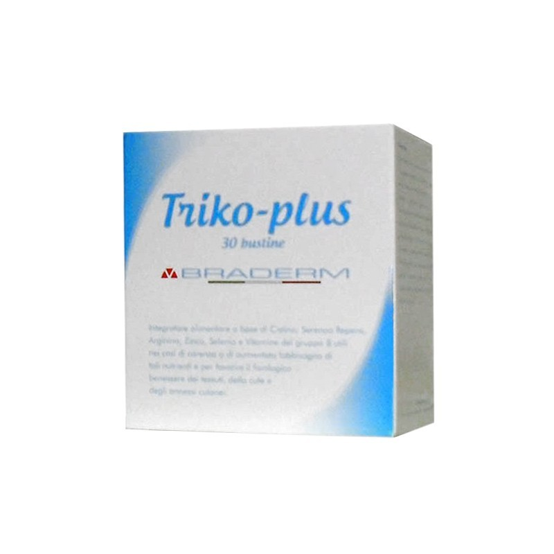 BRADERM - Triko Plus 30 Bustine - Integratore Utile Al Benessere Di Capelli Ed Unghie