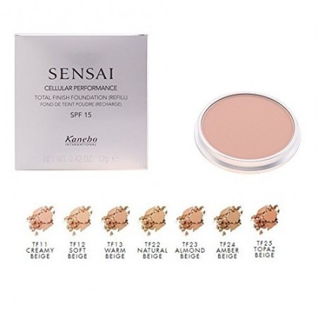 KANEBO - sensai cellular performance total finish foundation - fondotinta  compatto ricarica tf 11 creamy beige