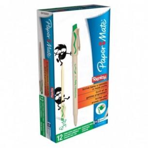 Penna a sfera cancellabile replay - verde - 1 mm - confezione da 12 penne