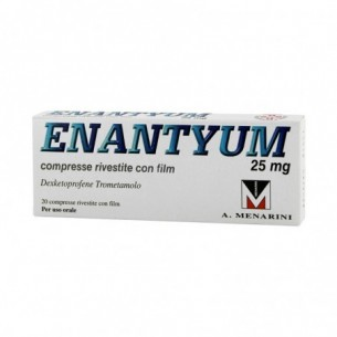 Enantyum 25 mg - analgesico 20 compresse rivestite