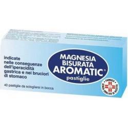 Magnesia Bisurata Aromatic - contrasta l'acidità di stomaco 40 pastiglie