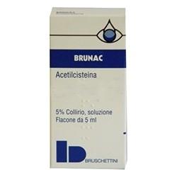 Brunac 5% - collirio per ulcere corneali e cheratopatie 5 ml