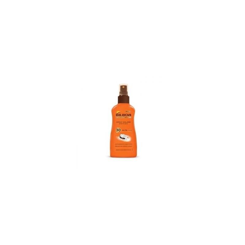 Bilboa - coconut beauty spray solare effetto seta spf 30 protezione alta 200 ml