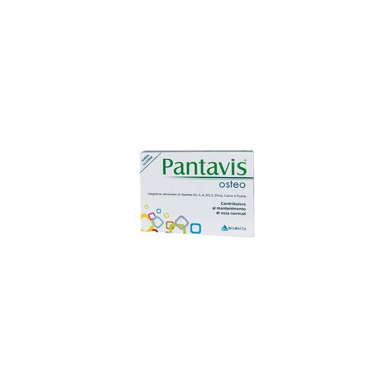 BIODELTA - pantavis osteo 20 compresse - integratore di calcio per il mantenimento delle ossa