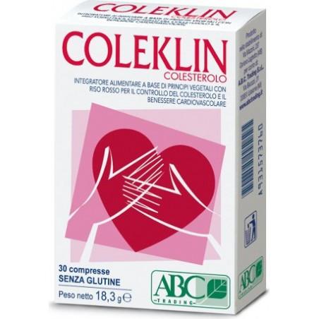 ABC TRADING - coleklin colesterolo 30 compresse - integratore per il benessere cardiovascolare