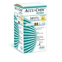 Strisce Reattive Per Misurazione Della Glicemia Per Diabetici Accu-Chek Active Glucose 50 Pezzi
