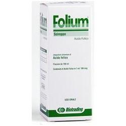 folium sciroppo 150 ml gusto fragola - integratore a base di acido folico
