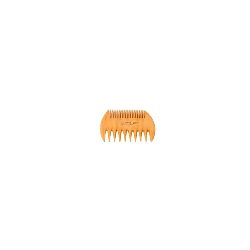 BIFFOLI - linea naturale - pettine in legno denti radi-fitti