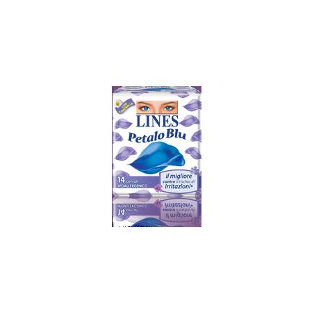 LINES - idea petalo blu - 14 assorbenti con ali per flussi normali