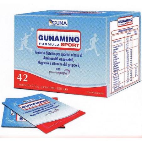 Guna - integratore alimentarea base di amminoacidi essenziali gunamino formula sport 42 buste 315 gr