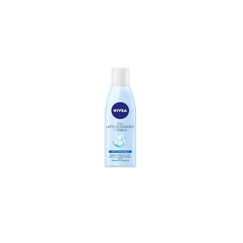 NIVEA - 2 in 1 latte detergente + tonico per il viso 200 ml