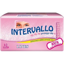 Intervallo - 40 proteggi slip anatomici ripiegati