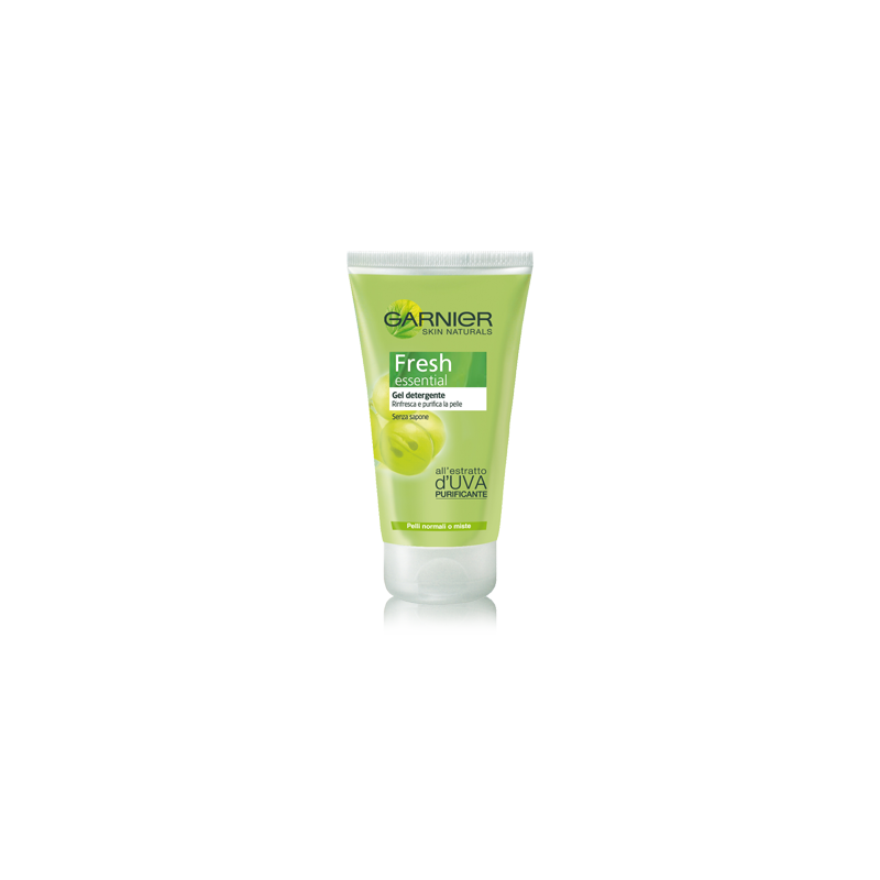 GARNIER - gel detergente estratto uva pelli normali o miste fresh essential 150ml