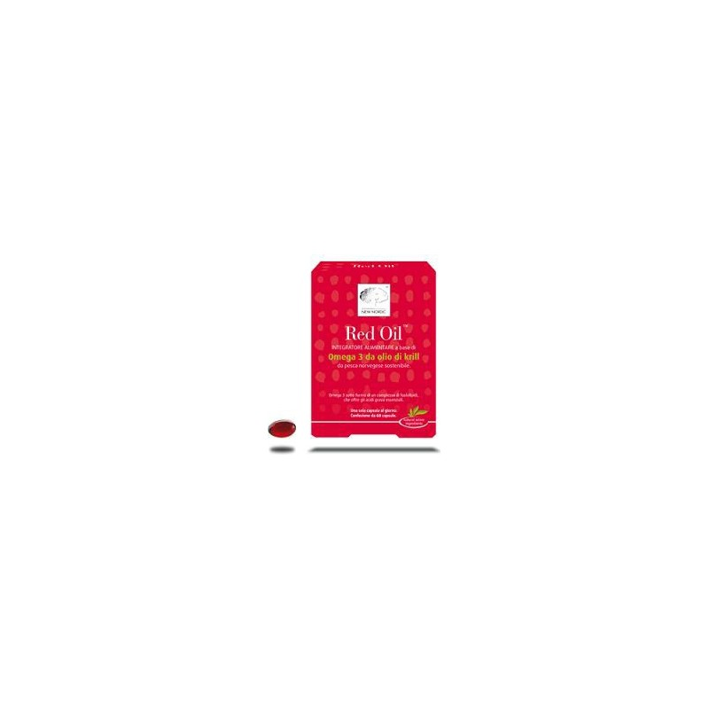 NEW NORDIC - Red Oil - Integratore Alimentare Per La Funzione Cardiovascolare 60 Capsule