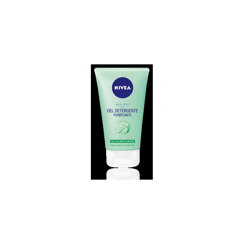 NIVEA - Aqua effect - gel detergente per il viso per pelli grasse 150 ml