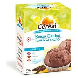 Merendine Senza Glutine Per Celiaci  Muffin Al Cacao 200 G