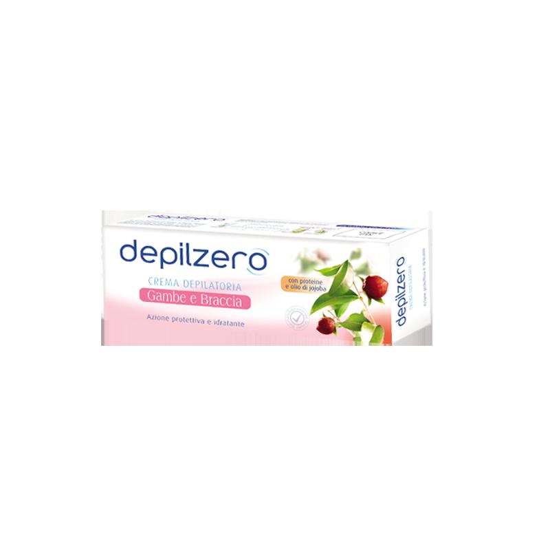 DEPILZERO - crema depilatoria gambe e braccia idratante e protettiva con olio di jojoba 150 ml
