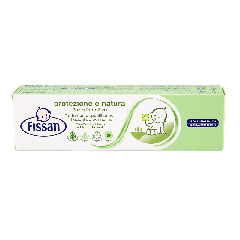FISSAN - Pasta Protettiva Per Bambino Con Estratti Naturali Baby Protezione E Natura 75 ml